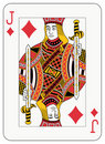 Jack of diamonds Stock Photos