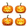 Jack Lantern Pumpkins Stock Images