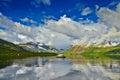 Jack londons lake summer reflexions the magadan area kolyma img Stock Images