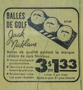 Jack Nicklaus golf ball vintage newspaper add