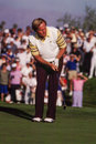 Jack nicklaus professional golf legend hitting an iron image from color scan Royalty Free Stock Photo