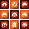 Jack o lantern faces icon set design Royalty Free Stock Images