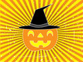 Jack-O-Lantern Halloween Vector Background Royalty Free Stock Images