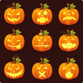 Jack O Lantern icon set Royalty Free Stock Photo