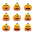 Jack O Lantern Icon Set Royalty Free Stock Image