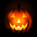 Jack o lantern at night Stock Image