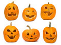 Jack O'Lantern pumpkins Royalty Free Stock Photo