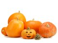 Jack-o-lantern pumpkins Royalty Free Stock Photos