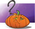 Jack-O-Lantern Question Stock Photo