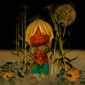 Jack O' Lantern Scarecrow 1 Royalty Free Stock Photography