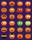 Jack-o-lantern smiley faces Stock Images