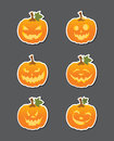 Jack O Lantern Stickers Royalty Free Stock Image
