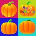 Jack-o'-lanterns 3d isolated Royalty Free Stock Photography