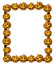 Jack-O-Lanterns Frame Border 3 Royalty Free Stock Images