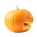 Jack-o'-lanterns orange pumpkin head isolated Royalty Free Stock Photo
