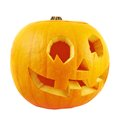 Jack-o'-lanterns pumpkin isolated Royalty Free Stock Photo
