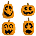 Jack O Lanterns (Silly) Stock Images