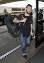 Jack Osbourne is seen at LAX Royalty Free Stock Image