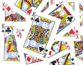 Jack, Queen, King Playing cards Royalty Free Stock Photo