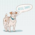 Jack russell terrier speech bubble vector illustration Royalty Free Stock Image