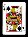 Jack of spades playing card, Royalty Free Stock Photo