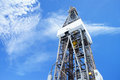 Jack up Drilling Rig Derrick on Sunny Day Royalty Free Stock Photography