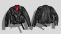 Jacket mockup set Royalty Free Stock Photo