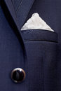 Jacket pocket abstract picture of with handkerchief Stock Photo