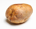Jacket potato freshly baked isolated on white Stock Images