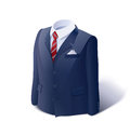 Jacket and shirt business suit eps vector illustration on white background Stock Image