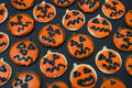 Jackolantern Cookies Royalty Free Stock Photo
