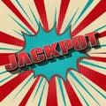 Jackpot comic retro background gambling game winner vintage design vector illustration Royalty Free Stock Photography