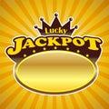 Jackpot Logo Stock Image