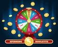 Jackpot lucky wheel and winner money rain