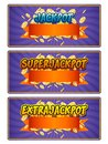Jackpot superjackpot extrajackpot illustartion Royalty Free Stock Photography
