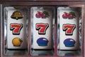 Jackpot three seven Royalty Free Stock Photo