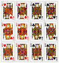 Jacks queens kings 62x90 mm Royalty Free Stock Photo