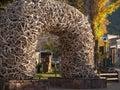 Jackson Hole Antler Arch Royalty Free Stock Photo