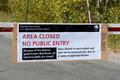 Jackson hole wyoming usa october us national parks closur closure sign at entrance to the grand tetons park in on Royalty Free Stock Photos