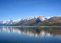 Jackson lake and the tetons grand teton national park Stock Images
