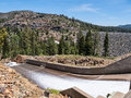 Jackson Meadows Reservoir dam spillway Royalty Free Stock Photo