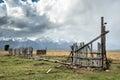 Jackson wyoming usa september view of mormon row near ja on Royalty Free Stock Image