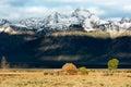 Jackson wyoming usa september view of mormon row near ja on Stock Photo