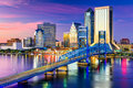 Jacksonville, FL Skyline Royalty Free Stock Photo
