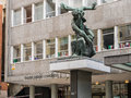 Jacob Epstein sculpture outside Congress House housing Trades Un Royalty Free Stock Photo