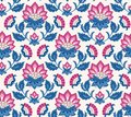 Jacobean floral pattern, meadow flowers background