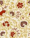 Jacobean Print Seamless Pattern Royalty Free Stock Photo