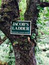 Jacobs ladder warning steep steps Royalty Free Stock Images