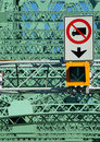Jacques Cartier bridge (detail), Montreal, Canada 2 Royalty Free Stock Photo