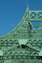 Jacques Cartier bridge (detail), Montreal, Canada 4 Royalty Free Stock Photo